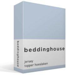 Beddinghouse jersey topper hoeslaken - 100% gebreide katoen - 1-persoons (70/90x200/220 cm) - Blauw