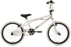 KS Cycling BMX Fahrrad, weiß-schwarz, 20 Zoll, »Fatt«