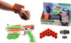 TackPro Tack Pro Shooter 1 14 Darts Blaster 18cm + Accesoires Zwart/Rood (darts incl)