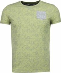 Black Number Blader Motief Summer - T-Shirt - Geel Blader Motief Summer - T-Shirt - Groen Heren T-shirt Maat S