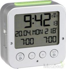 Zilveren TFA Dostmann TFA 60.2528.54 Bingo radiogr. wekker met temperatuur