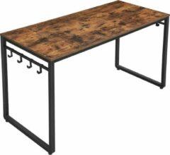 MIRA Home - bureautafel - kantoor - industrieel - hout/staal - bruin - 140x60x75