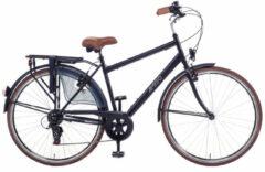 Amigo Style - Stadsfiets 28 inch - Herenfiets met 6 versnellingen - Matzwart