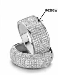 Velini jewels-R6263W-56 -Ring -925 Zilver gerodineerd- Cubic Zirkonia
