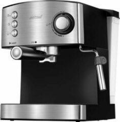 Grijze Espressomachine - Cappuccinomachine - Gemalen bonen - MPM - RVS
