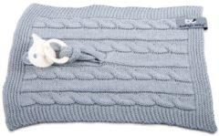 Licht-grijze Baby's Only speendoekje kabel uni licht grijs