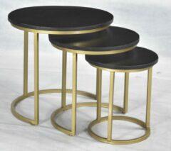 AnLi Style AnLi-Style Salontafelset Carmen Parrot Black/Gold Set-Van-3