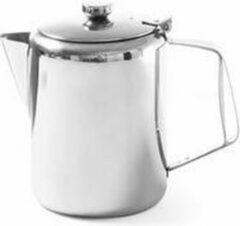 Roestvrijstalen Hendi Koffie-/ Theekan met Deksel   1 Liter   Ø97x(H)142mm