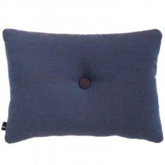 Donkerblauwe Hay Cushion Dot Rime kussen-Donker blauw