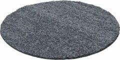 Flycarpets Candy Shaggy Rond Grijs Vloerkleed 200 X 200 CM