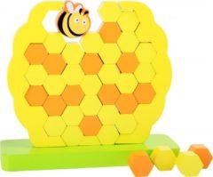 Gele Small Foot Company Small Foot Evenwichtstoren Honingraat hout geel 21 x 20 cm