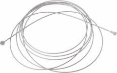 Zilveren Slurf Binnenremkabel Tandem Achter Ton/peernippel 3300 Mm