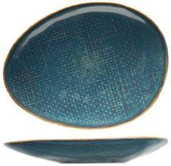 Cosy&Trendy Cosy en Trendy Aicha Blue Diep Ovaal Bord in Aardewerk - 20x16,5xh5,5cm (set van 6) En Yourkitchen E-kookboek - Heerlijke Smulrecepten