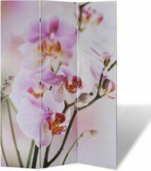 Paarse Kamerscherm 120x170cm Bloemen (Incl Anti Kras Vilt) - Ruimteverdeler - Kamerverdeler - Kamer scherm
