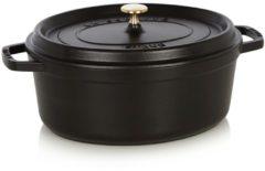 Zwarte Staub Braadpan Braadpan ovaal zwart 31 cm