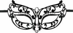Easytoys Fetish Collection Easytoys Opengewerkt Masker Metaal - Zwart - Dames Lingerie - Accessoires - Zwart - Discreet verpakt en bezorgd