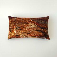 Swan Spring Raw Earth Golden Core | Kussen | Bruin | Goudgeel | 30 x 50cm