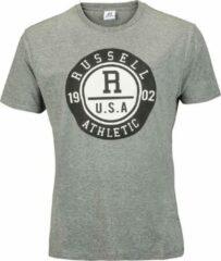 Grijze Russell Athletic Men SS Crewneck Tee Men SS Crewneck Tee Heren T-shirt Maat S