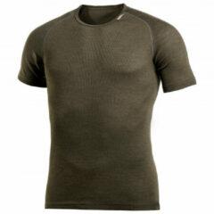 Woolpower - Lite Tee - Merino-ondergoed maat S, bruin/zwart/olijfgroen