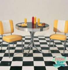 Bel Air Retro Fifties Furniture Bel-Air Retro Dinner Set Geel 2 stoelen en tafel