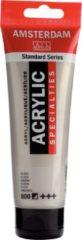Zilveren Royal Talens Amsterdam Standard acrylverf tube 120ml - Zilver - halfdekkend