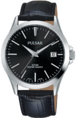Pulsar PS9457X1 Herenhorloge Zwarte leren band 38 mm ø
