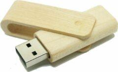 Bruine Onderwijsgadgets Bamboe Uitklap Model - USB-stick - 16 GB