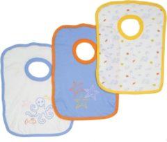 Bianco Blu Babies Slabber per 3 Blauwe-NDB04903D Maten: Een maat