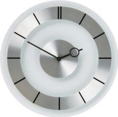 NeXtime Retro - Klok - Stil Uurwerk - Rond - Glas - Ø31 cm - Transparant/Zilver