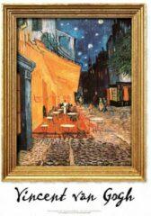 Blauwe CoverArt ArtPrint Vincent van Gogh 'Caféterras bij nacht'