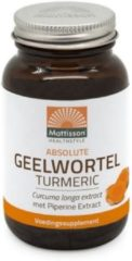 Mattisson / Absolute Geelwortel/Turmeric 700mg (Curcuma longa & Piperine extract) 95% - 60 tabletten