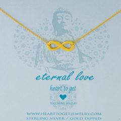 Heart to get N91BIN13G Ketting Buddha Eternal love zilver goudkleurig