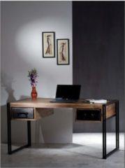 Baidani Excl. Designer Schreibtisch HEAVY 150x80cm Sheeshamholz + Metall
