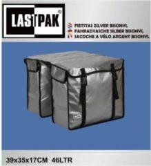 Lastpak Bisonyl Dubbele Fietstas - 46 l - Zilver