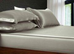 Silkmood Zijden hoeslaken, 100% zijde, 405thread count (19momme), Parelmoer grijs 180x220cm