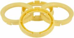 Universeel Set TPI Centreerringen - 64.0->58.1mm - Lemon Geel