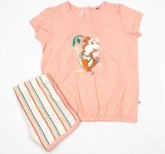 Woody pyjama baby meisjes - lichtroze - cavia - 211-3-BST-S/232 - maat 62