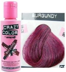 Bordeauxrode Crazy Color Burgundy, 100gr - Haarverf