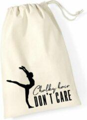 Gebroken-witte Sparkle&Dream Leertjes/Lusjes Tasje 'Chalky Hair', voor turnen en gymnastiek