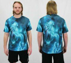Groene Bones Sportswear Heren T-shirt Dragon maat S