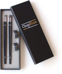 Zilveren ChopStore Luxe cadeau-box met 2 sets chopsticks en chopsticks rests
