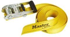 Gele MasterLock 2x spanband met ratel 4,5mx25mm 3378EURDAT