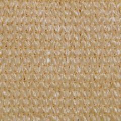VidaXL Zonnescherm HDPE driehoekig 3,6x3,6x3,6 m beige
