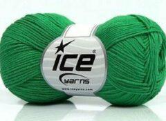Ice yarns Garen haken en breien 100% katoen haak en breigaren groen kopen – naald 3 mm – bollen van 50 gram haakgaren looplengte 170 meter | dewolwinkel.nl