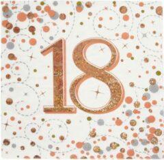 Roze Oaktree UK Servetten 18 jaar Rose Gold (16 stuks)