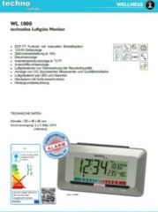 Techno Line TechnoLine WL 1000 Luftgüte-Monitor mit Luftgütealarm - braun