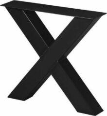 Stalen Interieurs Stalen X Poot Salontafel   Ongelakt  Koker 100x100   X-onderstel   Industrieel Salon Tafelonderstel