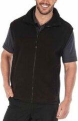 Fleece bodywarmer zwart voor volwassenen - Unisex bodywarmer dames/heren