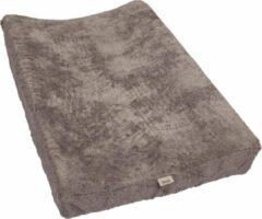 Antraciet-grijze Timboo waskussenhoes (67 x 44 cm) - antraciet