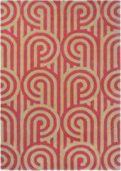 Florence Broadhurst - Turnabouts claret 39200 Vloerkleed - 120x180 cm - Rechthoekig - Laagpolig Tapijt - Klassiek, Retro - Goud, Rood
